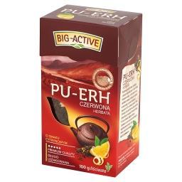 Pu-Erh Herbata czerwona o smaku cytrynowym liściasta