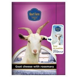 Ser z mleka koziego z dodatkiem rozmarynu