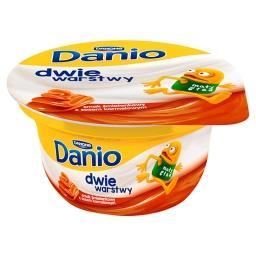 Danio Dwie warstwy Serek homogenizowany o smaku śmietankowym z sosem karmelowym