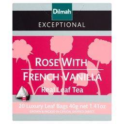 Exceptional Czarna cejlońska herbata z aromatem róży i francuskiej wanilii 40 g (20 torebek)