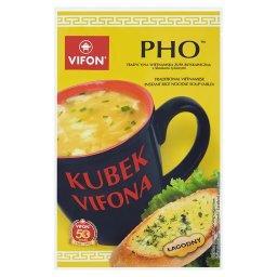 Kubek a Pho Tradycyjna wietnamska zupa błyskawiczna z kluskami ryżowymi łagodna