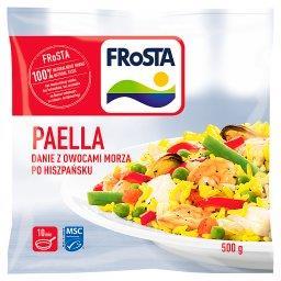 Paella Danie z owocami morza po hiszpańsku