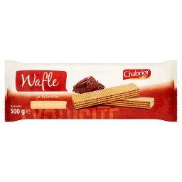 Wafle z kremem o smaku kakaowym