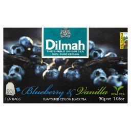 Cejlońska czarna herbata z aromatem czarnej jagody i wanilii 30 g (20 torebek)
