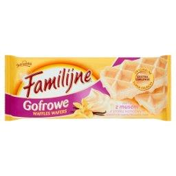 Gofrowe wafle z musem o smaku waniliowym
