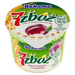 7 zbóż Jogurt ze śliwkami i ziarnami zbóż