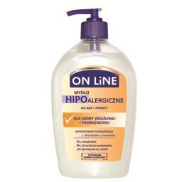Mydło hipoalergiczne w płynie z dozownikiem do rąk i twarzy dla skóry wrażliwej i podrażnionej 500 ml