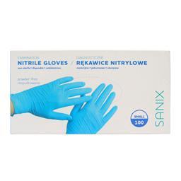 Rękawice nitrylowe niepudrowane rozmiar Small 100 sztuk