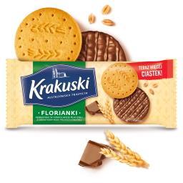 Florianki Herbatniki w czekoladzie mlecznej z dodatkiem mąki pełnoziarnistej