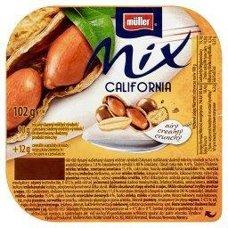Mix California Słodzony produkt mleczny z orzeszkami i chrupkami w czekoladzie