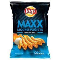 Maxx Mocno Pogięte Ser & Zielona cebulka Chipsy ziemniaczane