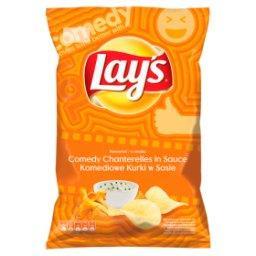 Chipsy ziemniaczane o smaku komediowe kurki w sosie