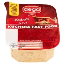 Kuchnia Fast Food Sałatka kebab & ryż