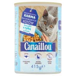 Pełnoporcjowa karma dla dorosłych kotów kawałki z ry...