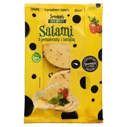 Ser żółty Salami z pomidorami i bazylią
