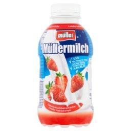 Milch Napój mleczny o smaku truskawkowym