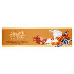 Szwajcarska czekolada mleczna z rodzynkami całymi orzechami laskowymi i migdałami