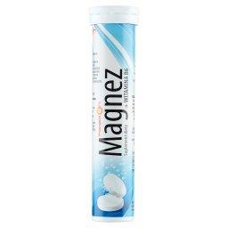 Magnez + witamina B6 Tabletki musujące o smaku cytrynowym