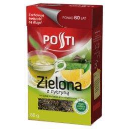 Zielona z cytryną Herbata liściasta aromatyzowana