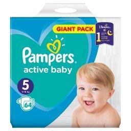Active Baby Rozmiar 5, 64 pieluszki, 11-16 kg