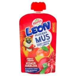 Leon Mus owocowo-warzywny jabłko banan wiśnia buraczek 100 g