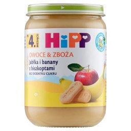 BIO Owoce & Zboża Jabłka i banany z biszkoptami po 4. miesiącu