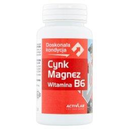Cynk Magnez Witamina B6 Suplement diety witaminy i minerały 45 kapsułek