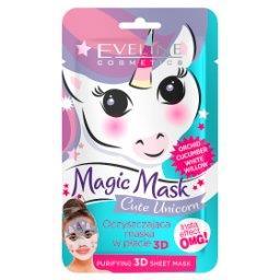 Magic Mask Cute Unicorn Oczyszczająca maska w płachcie 3D