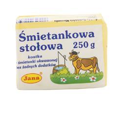 Masło śmietankowa stołowa 74% tłuszczu 250 g