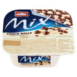 Mix Jogurt o smaku waniliowym z kulkami ryżowymi w mlecznej i białej czekoladzie