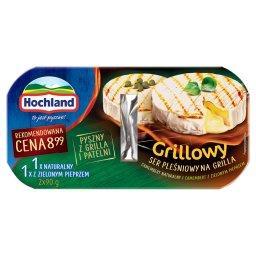 Grillowy Ser pleśniowy na grilla Camembert naturalny i z zielonym pieprzem 180 g (2 x )