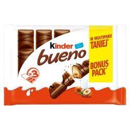 Bueno Wafel w mlecznej czekoladzie wypełniony mleczno-orzechowym nadzieniem 129 g