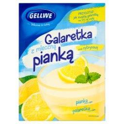 Galaretka z mleczną pianką smak cytrynowy