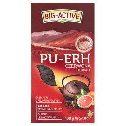 Pu-Erh Herbata czerwona o smaku grejpfrutowym liściasta