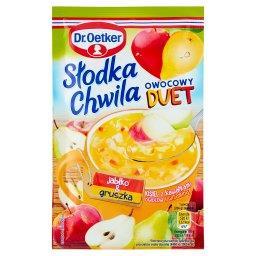 Słodka Chwila Owocowy Duet Kisiel z kawałkami owoców i witaminą C jabłko & gruszka