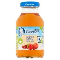 100% sok jabłko wiśnia po 4. miesiącu