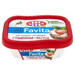 Favita Serek kanapkowy typu greckiego z pomidorami i bazylią