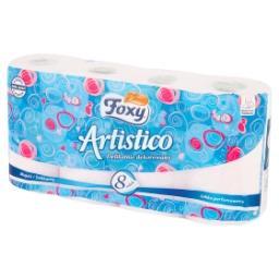Artistico Papier toaletowy delikatnie dekorowany różowy 8 rolek