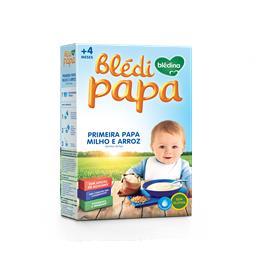 Farinha láctea 1ª papa milho e arroz 4 meses