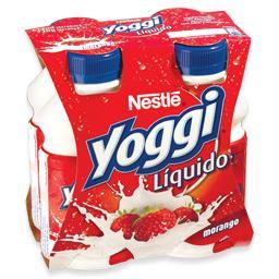 Iogurte líquido yoggi morango