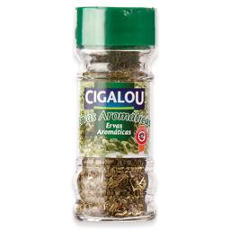 Ervas aromáticas em frasco