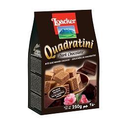 Bolachas waffer quadratini chocolate negro