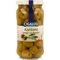 Azeitona verde recheada com anchovas