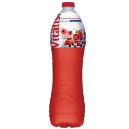 Água com sabor a frutos vermelhos + vitamina b1