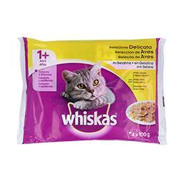 Alimento húmido para gato +1 ano, sabor a aves