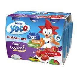 Iogurte líquido yoco sem lactose morango