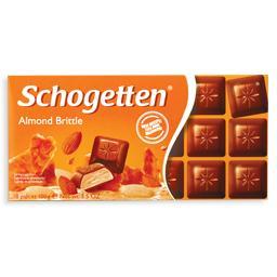 Tablete de chocolate, amêndoa crocante
