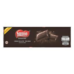 Tablete de chocolate preto extra fina