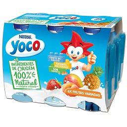 Yoco liq. frutas variadas all nat 6x90g