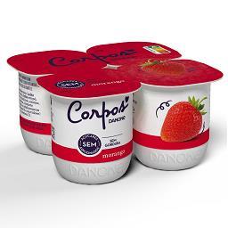 Iogurte corpos danone aroma morango